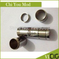 Cheap Mechanical Mod Locking Bottom Button Adjustable Chi you Electronic Cigarette E Cigarette Mod fit 18650 battery mod clone vapors