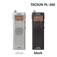 achat en gros de tecsun radio-Gros-Tecsun PL 360 usb radio portable DAB poche enregistreur numérique de radio AM-FM à ondes courtes PLL DSP ETM SW MW LW-360 Récepteur pl
