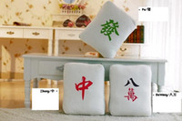 Wholesale original Chinese mahjong bolster cushion per set decorate your home with Chinese characters