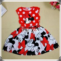 minnie dress - kids girls cartoon minnie dress minnie polka dot dress girls party dresses children girl minnie christmas dress in stock