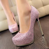 Wholesale 4 Color New Rhinestone Dress Women Dress Shoes High Quality Shoes Waterproof High Heel Club Shoes Fashion Shoes Party Shoes