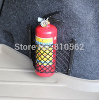 auto extinguisher - General car trunk bags storage fire extinguisher net auto luggage box backstitching compartment bag