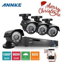 achat en gros de kits de caméras de dvr-Kits de surveillance Système de caméra SANNCE système CCTV 8CH DVR 960H 4PCS 800TVL IR Weatherproof CCTV Outdoor Home Security