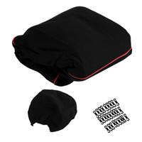 Wholesale New Full Seat Cover Set Car Seat Cover Low Front Back Set Black Red Edge hot selling