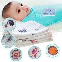 Wholesale 10 Design Aden Anais Bamboo Swaddle Muslin Cotton bamboo Baby Swaddle Envelopes Wrap for Infant Newborn Baby Soft Baby Blanket