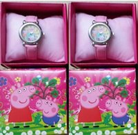 Wholesale New Cartoon Pig watch Children Cartoon Quartz Watch with boxes Party Gifts biao31