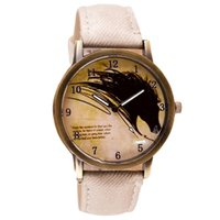 auto paints - Newly Design Vine Brief Painting Horse Watch Quartz Wrist Watches