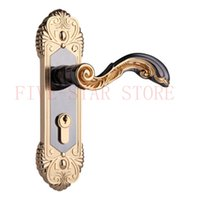 interior door handles - luxury European classical style interior handle door lock Zinc alloy silent door lock for AL alloy doors