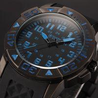 shark - SHARK ARMY Military Male Clock Sport Mens Quartz Blue Silicone Strap Full Steel Case Relogio Esporte Men Fashion Watch SAW076