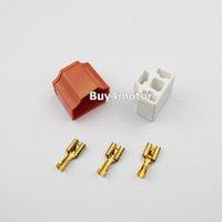 al por mayor venta al por mayor conector de la bombilla h4-Al por mayor-Par 9003 H4 Bombilla Faro Conector Plug Lamp Socket cerámica para Dodge Ford # 1645