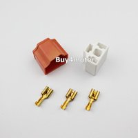 Wholesale Pair H4 Bulb Headlight Connector Plug Lamp Socket Ceramic for Dodge Ford