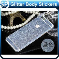 Wholesale Glitter Bling Full Body Sticker Cover Front Back Matte Skin Film Protector for iPhone S Plus