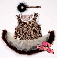 band clothing lines - 10 OFF HOT SALE NEW Leopard Dressed Infantis PRINCESS DRESS Baby Clothing Baby Girl Party Dresses DRESS HAIR BAND