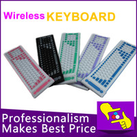 Wholesale-107 llaves plegables flexible impermeable de silicona suave teclado bluetooth 2.4G inalámbrico para tablet PC