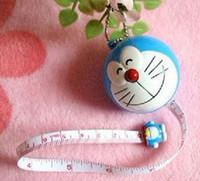 Wholesale Kawaii Cartoon Doraemon Tape Ruler Kid s School Stationery Measure Tape Tapeline Measurement Tapes Pocket Keychain Tape