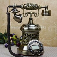 Wholesale Quality antique brass vintage antique telephone fashion landline telephone Caller ID
