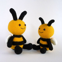 Wholesale Amigurumi Bee Crochet Toy Bee Hand Made Plush Toy Bumble Bee Crochet Insect Toy Soft Toy Stuffed Toy Crochet Animal Australian Made