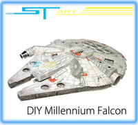 alice hot toys - Hot Sale Star Wars Millennium Falcon model alice paper model ship DIY toy