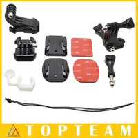 active connections - For GoPro Active Connection Chain Mount Flat Curved Mounts Screw J Shaped Buckle With Adhesive Pads For GoPro Hero4 SJCAM SJ4000
