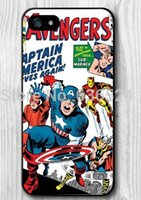 animate collection - Hot Style Superhero Captain America Collection Of Animated Characters Case for iPhone s s c plus