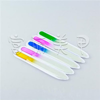 beautiful nail files - Beautiful Nail Files High Quality Crystal Glass File Buffer Colorful Acrylic Nail Art Tools Buffer Files for Manicure Salon UV Polish Tool
