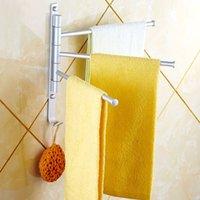 Wholesale Aluminium Towel Rack Swivel Bars Rotary Bar Wall mounted Bathroom Kitchen Towels Holder Hanger