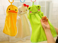 Wholesale 2015 Cute Animal Microfiber Kids Children Cartoon Absorbent Hand Dry Towel Lovely Towel For Kitchen Bathroom microfiber bath towel