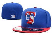 texas rangers - MLB Texas Rangers Baseball Cap Embroidered Team logo Fitted Cap Famous Star Hip Hop Sport Fit Hat