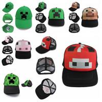 Wholesale Free DHL Minecraft Caps JJ Blame Creeper Sun Hats Hot Game Minecraft Baseball Cap Fashion Baseball Hat