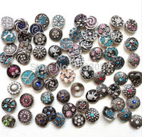 Wholesale multi diy snap button styles mm Metal Snap Button Charm Rhinestone Styles Button Ginger Snaps Jewelry