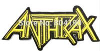 Transferts tshirt Avis-ANTHRAX Or Cut Out Music Band Iron / Coudre Patch T-shirt TRANSFERT MOTIF gros APPLIQUE Punk Rock Badge