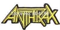 al por mayor sew corte-ÁNTRAX Oro fotografica Banda de Música de hierro en / cosa en remiendo Camiseta TRASLADO MOTIF al por mayor de la insignia del punk rock APLIQUE
