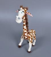 achat en gros de girafe haute-10pcs Madagascar girafe peluche Poupée 33cm 2016 Belle long cou de girafe Hot Toys pour les cadeaux de bébé de haute qualité Cartoon Giraffe Peluches