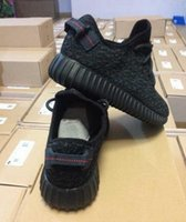 fast shipping shoes - With Origina Box l Yeezy Boost Pirate Black Low Sport Running Shoes Women and Men Footwear Shoes Training Boots Fast Shipping