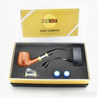 Wholesale Clone e Pipe electronic cigarette e cigarette Single Kit E pipe ml Atomizer With Battery Wood Gift Box