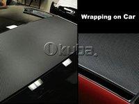 car decoration - 1 m Black D Carbon Fiber Vinyl Car Wrapping Foil Carbon Fiber Car Decoration Sticker