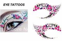 Wholesale 50pcs NEW type Eye stickers Temporary Eye Tattoo Transfer Eyeshadow Stickers Eyeliner Styles