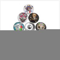 button skull - 15 off new mm Snap Buttons Fit DIY Press Noosa Snap Bracelets Skull Pattern Mixed Snap Button Bracelets drop shipping