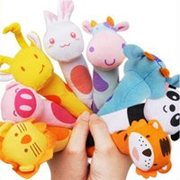baby head development - New brand baby toy Baby Colorful Cute Animal Head IQ Development Handled Cloth Toys lovely kawaii gifts doll