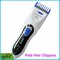 Wholesale DHL BAIDE Professional Electric Pets Hair Clippers Rechargeable Dog Cat Trimmers Shaver Razor Brushes Grooming Tool Products
