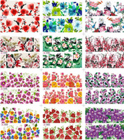 nail tattoo sticker - 12 New Peacock Floral Leopard Print Nail Art Decals Water Transfer Nail Stickers Tattoo
