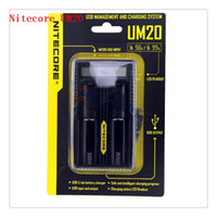 battery management - 100 Original Nitecore UM20 USB Management and Charging System Nitecore UM20 Li ion Battery Charger with usb cable Retail Package