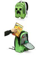 Wholesale Minecraft backpack game creeper backpack children school bags boys mochila double shoulder bag block coolie kids school bag