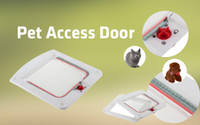 Wholesale 1pcs White Way Locking Lock Pet for Cat Kitty Small Dog Doggy Puppy Flap Safe Door Tunne