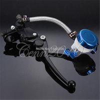 Wholesale 7 inch Motorbike Handlebar Hydraulic Master Cylinder Brake Lever Clutch Right Blue order lt no tracking