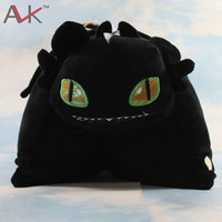 Cheap How to Train Your Dragon Toothless pillow Night Fury Firedragon Nightmare Plush Toy Stuffed Animal Doll Toy Free Shipping