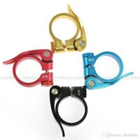 Wholesale New cycling Rockbros Road Bike bicycle MTB Seatpost Seat Post Clamp Quick Release Parts Clamps Clips QR mm colors