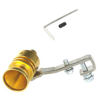 Wholesale Golden Universal Car Vehicle Turbo Sound Whistle Exhaust Pipe Tailpipe Fake BOV Blow off Valve Simulator Size M x2 cm
