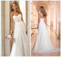 Cheap 2015 Hot Sale Sexy Chiffon Beach A-Line Wedding Dress Vintage Boho Cheap Wedding Dress Bridal Gown Casamento