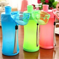 big plastic mug - Fashion Portable Slimmer Anti Leak Cup Big Capacity Outdoor Plastic Water Bottles Sports Bicycle Drink Bottle Travel Mug Z300